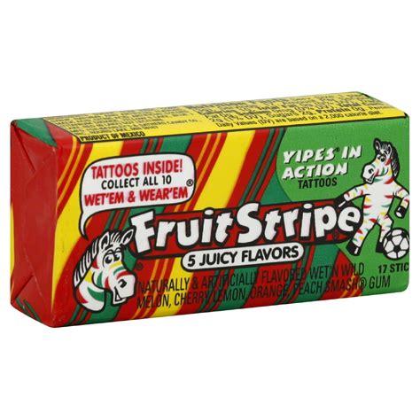 fruit stripe gum fruit stripe chewing gum jumbo pack 17 sticks