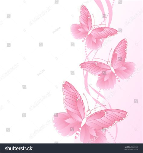 wallpaper butterfly pink vector background with pink butterflies stock vector illustration