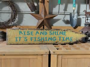 Hand Painted Wood Signs Home Decor fishing sign lake house decor country cabin primitive