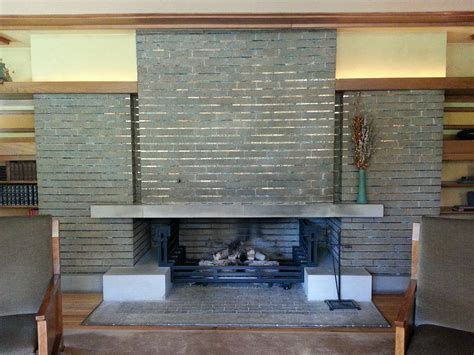 designing a fireplace with frank lloyd wright stylish