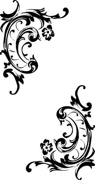 scroll pattern png western scroll border clip art clipart panda free