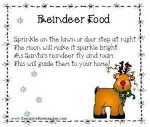Reindeer food poem christmas xmas ideas juxtapost