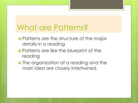 patterns of organization in reading powerpoint ppt patterns of organization and signal words powerpoint