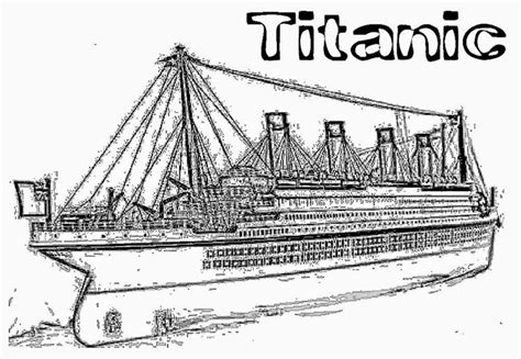 free titanic 2 coloring pages