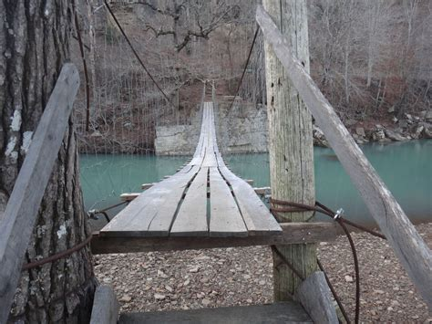 swinging bridge arkansas bridgehunter com catalpa swinging bridge