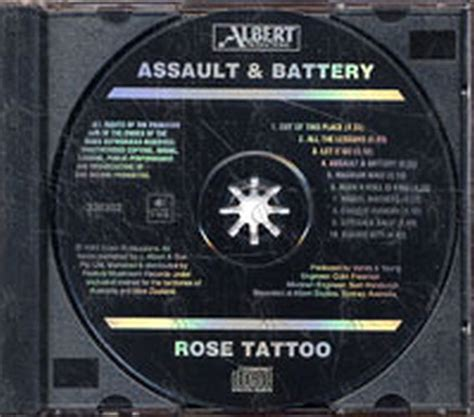 rose tattoo assault amp battery album cd rare records