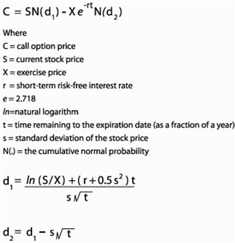 black scholes calculator eri economic research institute