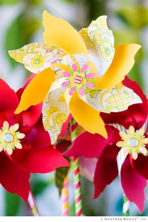 Handmade Pinwheels - amazing handmade pinwheels made these once for a