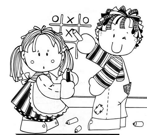 imagenes de niños trabajando matematicas para colorear jugando tres en raya dibujalia dibujos para colorear