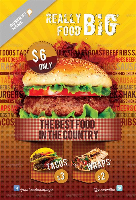 Fast Food Flyer Template On Behance Food Flyers Templates