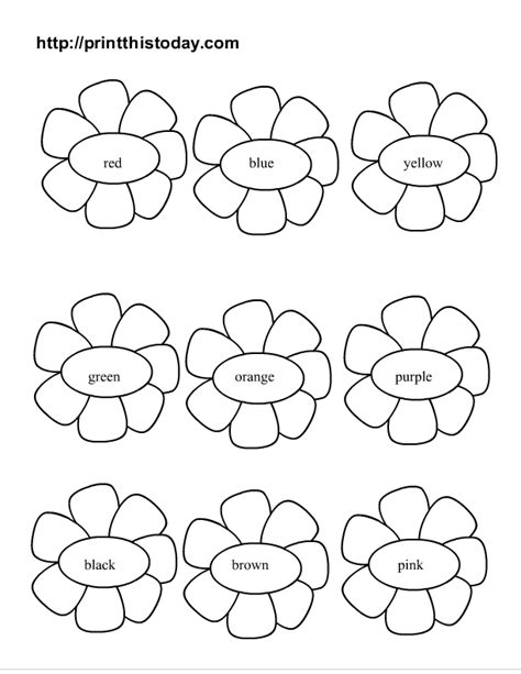 printable worksheets about flowers free color the flowers printable activity