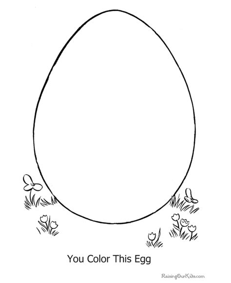Preschool Easter Egg Coloring Pages 013 Egg Coloring Page