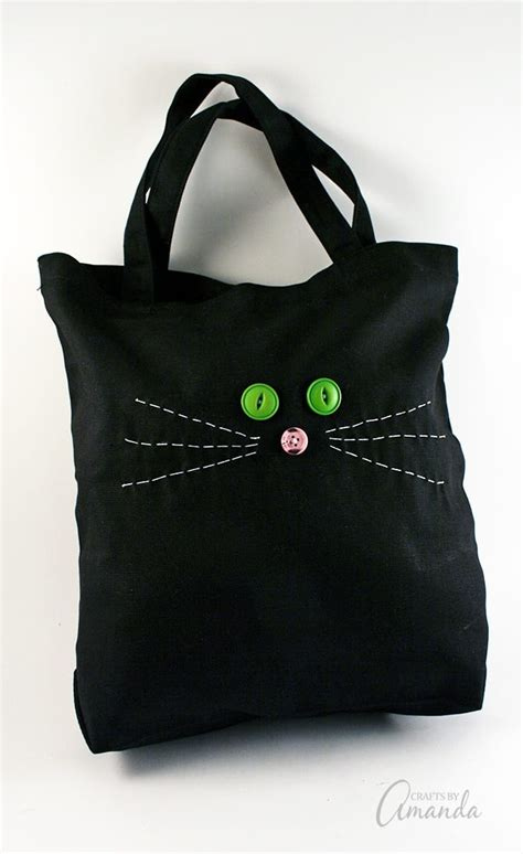 Tote Cat cat tote bag easy beginner sewing project for