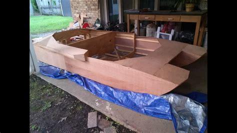 homemade rc jet boat homemade plywood jet boat pt 7 sheathing youtube