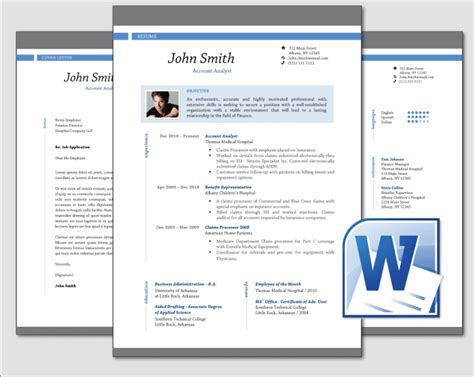ms word resume format design clean professional resume cv template word by jav