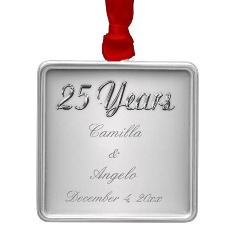 Wedding Anniversary Keepsakes by 25th Wedding Anniversary Keepsake Ornament Zazzle