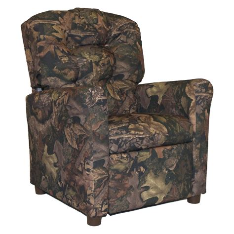 Youth Camo Recliner Youth Camo Recliner True Timber Fabric Theater Recliner With Cup Holder Camo Green Dzd9755 By