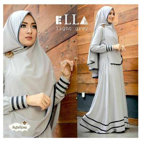D Maxi Setelan f fashion baju muslim gamis syari najwa abu dress