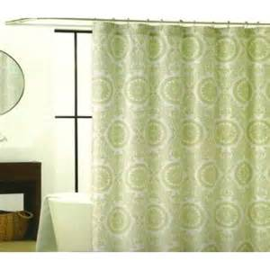 green medallion fabric shower curtains