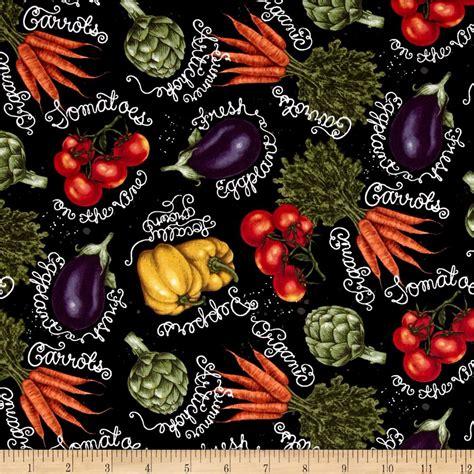 Yellow Home Decor Fabric chalk veggies multi discount designer fabric fabric com