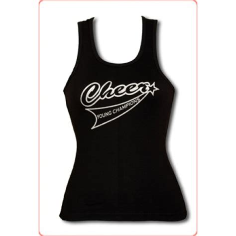 top cheer cheer black tank top
