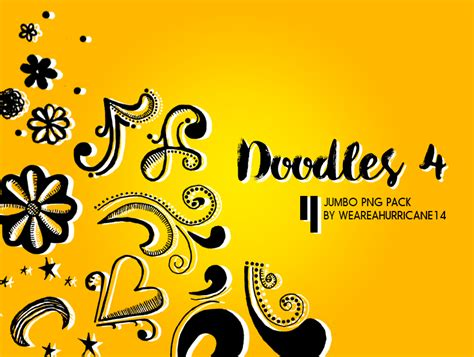 doodle 4 resources doodle 4 jumbo png pack by weareahurricane14 on deviantart