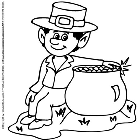 leprechaun free colouring pages