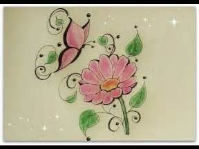 how to draw flower with butterfly daisy flower for