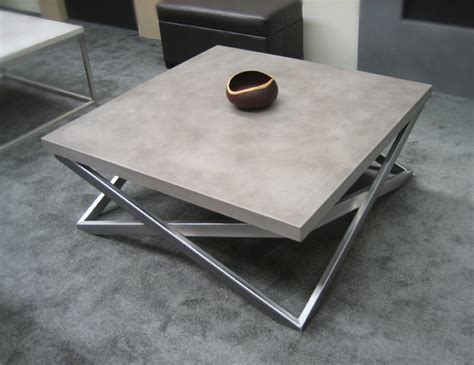 concrete custom contemporary coffee table contemporary