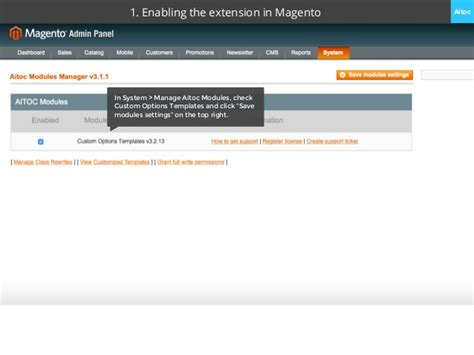 custom options templates user manual for magento