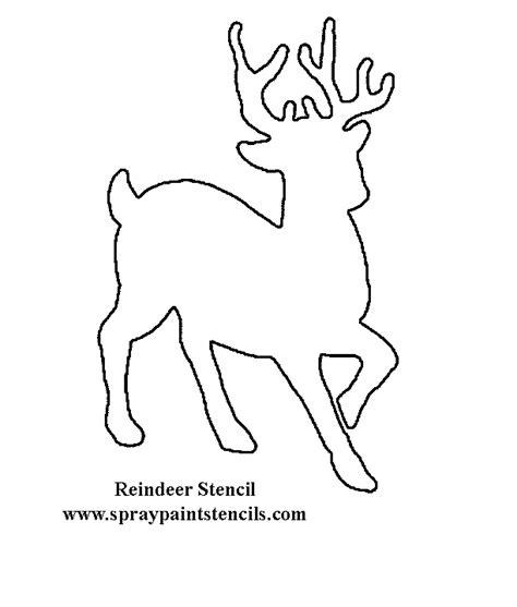 printable reindeer outline reindeer stencil printable images
