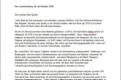 sle german cover letter joblers