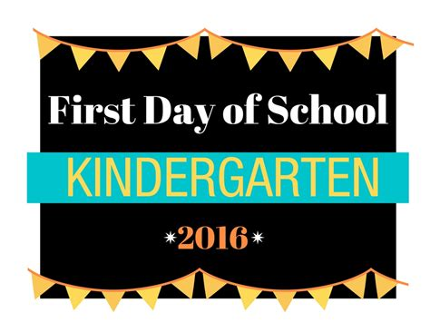 day of school sign template day of kindergarten printable worksheets