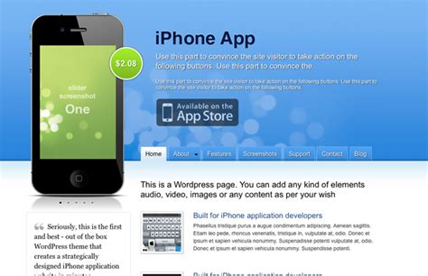 iphone themes app free 6 wordpress themes for iphone apps
