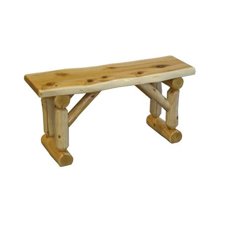 rustic log bench white cedar log bench