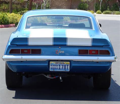 1969 camaro z28 blue 1969 chevrolet camaro with z28 package factory restore