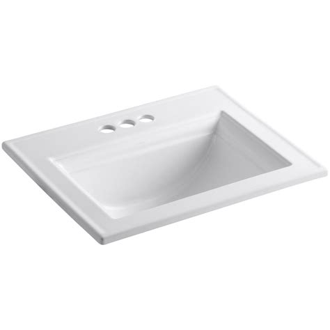bathroom drop in sinks drop in self rimming sinks bathroom sinks the home depot