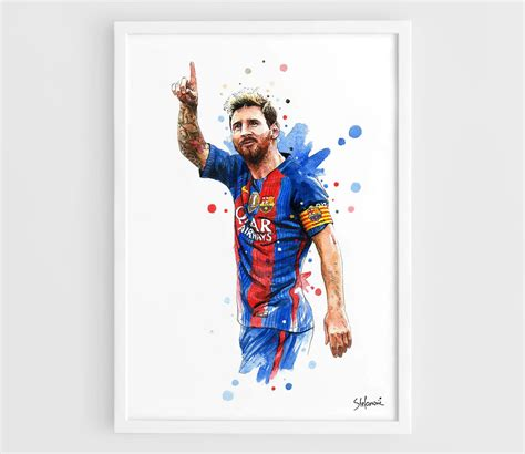 Football Artwork Messi 1 lionel messi barcelona fc 2016 kit a3 wall print poster