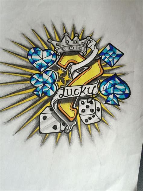 lucky 7 tattoo lucky seven 7 design custom design