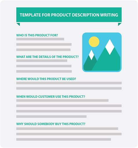 writing a description template product description template gallery free templates ideas