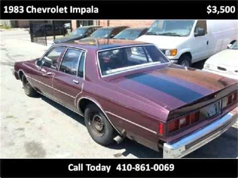 how to sell used cars 1983 chevrolet caprice head up display 1983 chevrolet impala used cars baltimore md youtube