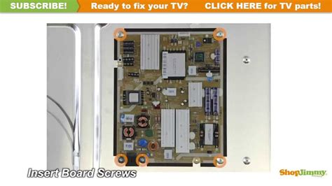 Power Supply Samsung La32a450c1spare Part Tv samsung tv repair how to replace bn44 00424a power