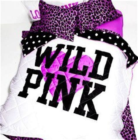 victoria secret wild pink comforter set queen on the hunt