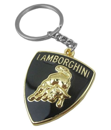 Lamborghini Keychain Tag3 Lamborghini Car Metal Golden High Quality Logo Key