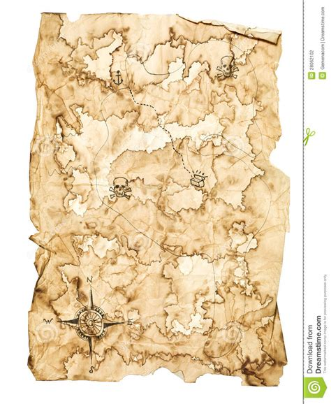 treasure map stock photography image 28062102