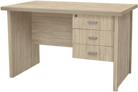 small 3 drawer desk buy vida living oscar light oak 3 drawer small desk