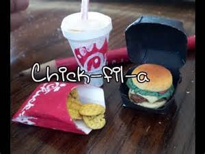 How To Make American Doll Food Out Of Paper - how to make doll food miniatures spicy fil a