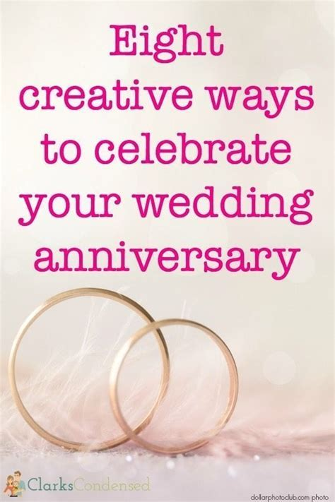 Creative Anniversary Celebration Ideas