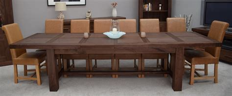 walnut dining room table kendo solid walnut dining room furniture extra large extending dining table ebay