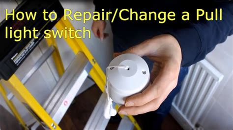 how to replace bathroom light pull cord how to repair change a pull cord light switch video